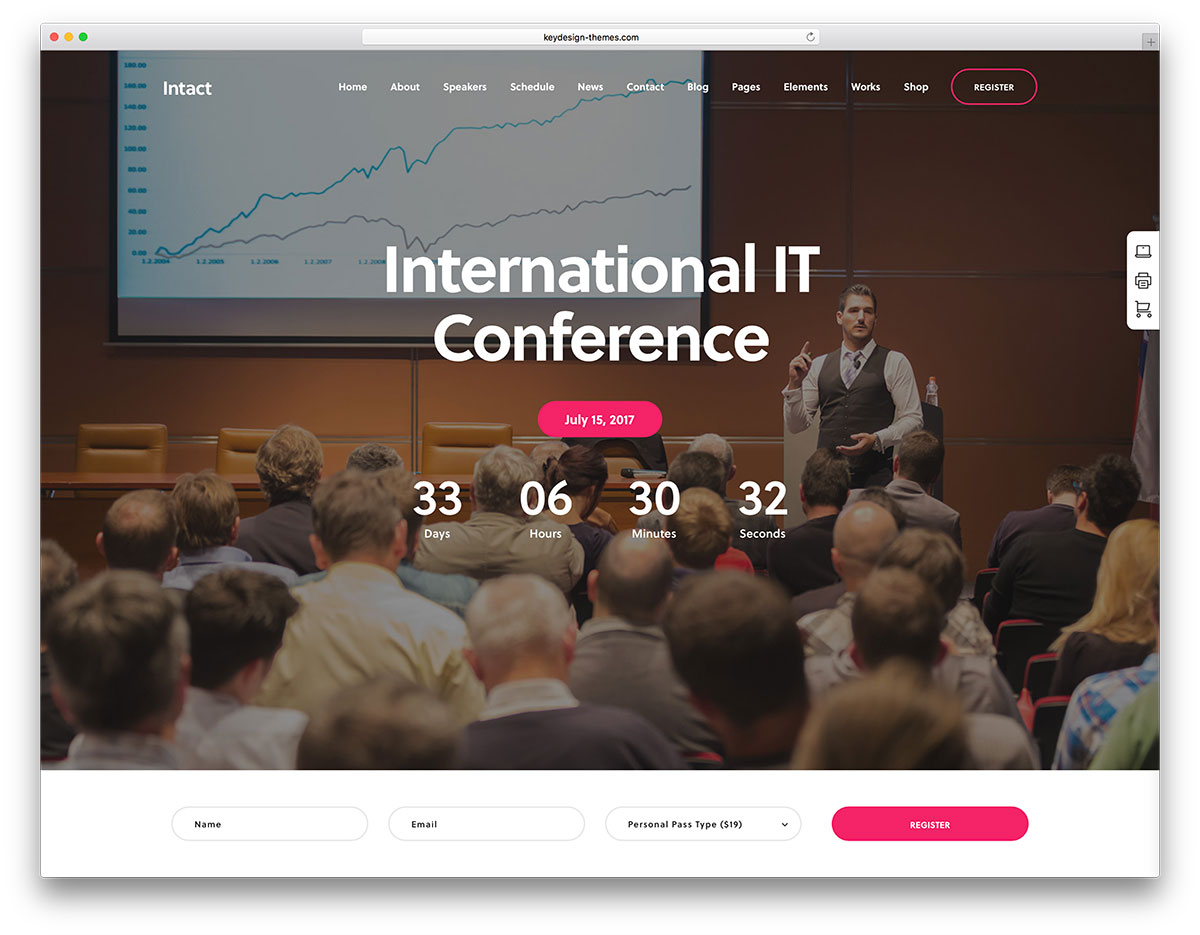 30 Awesome Wordpress Themes For Conference And Event 2018