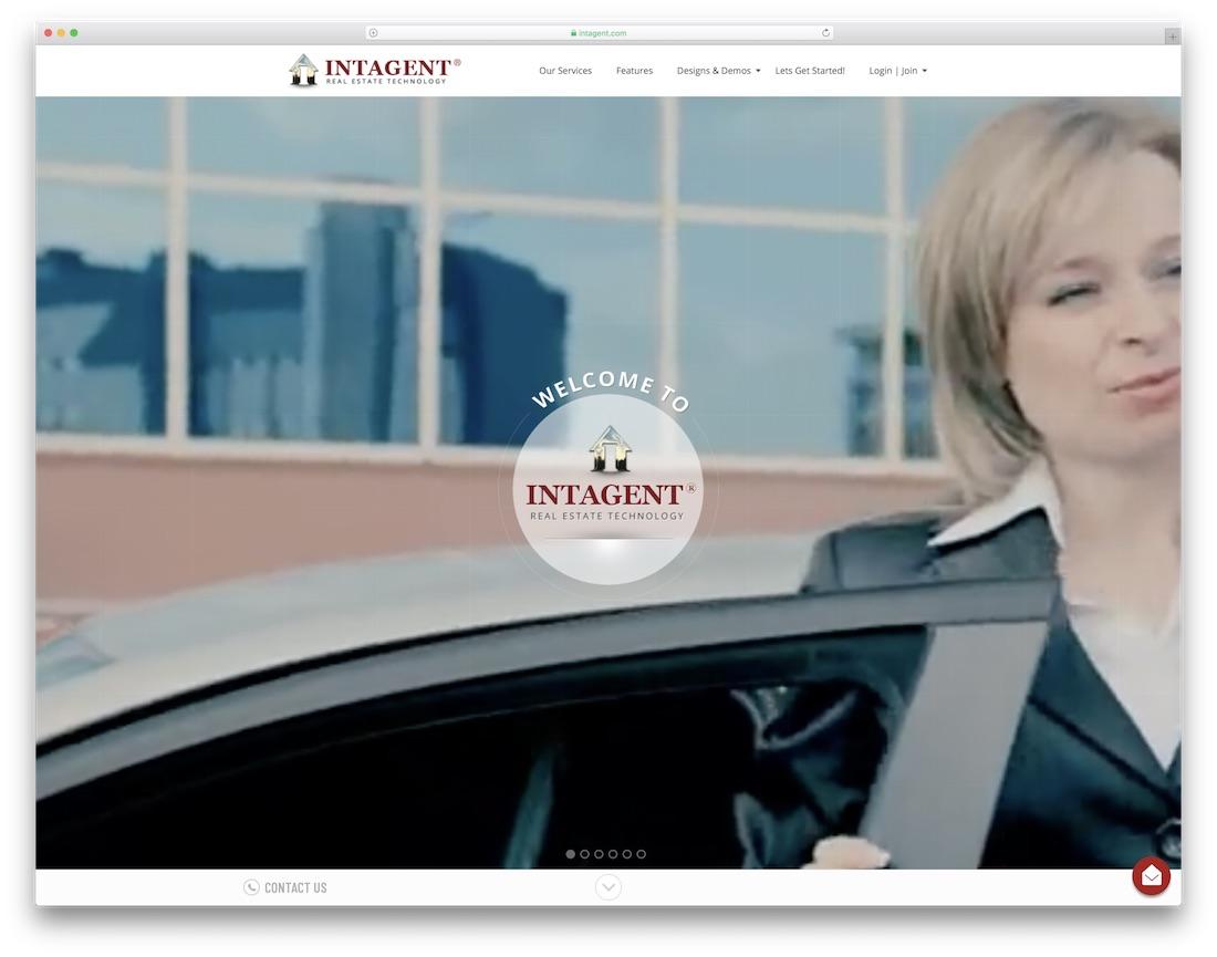 intagent real estate agent website builder