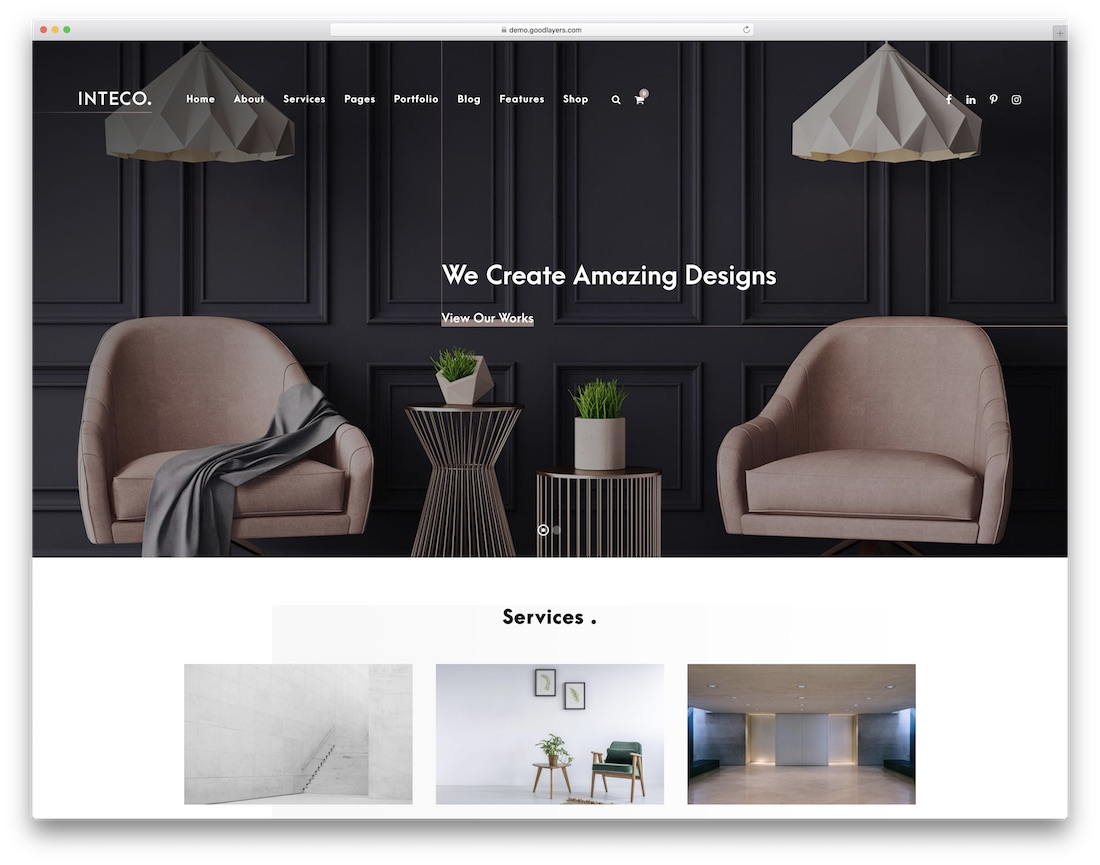 inteco best wordpress theme for architects