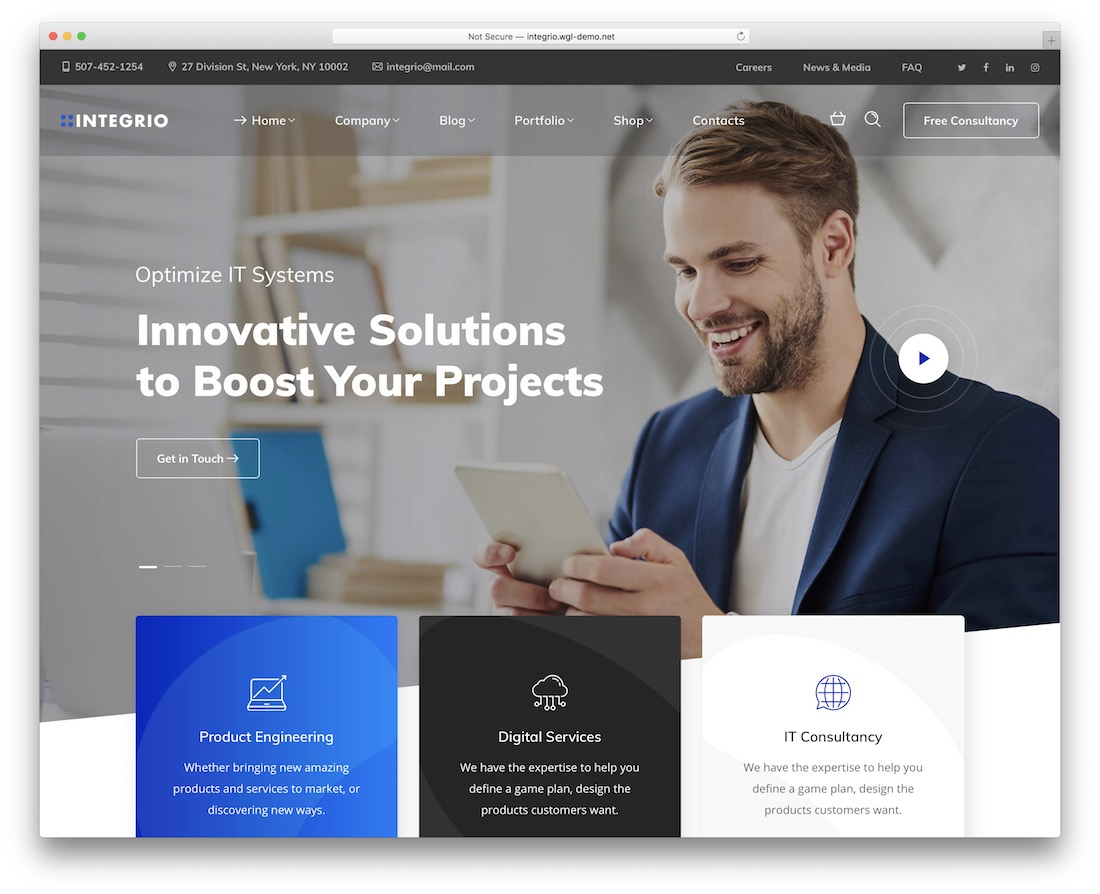 integrio wordpress theme