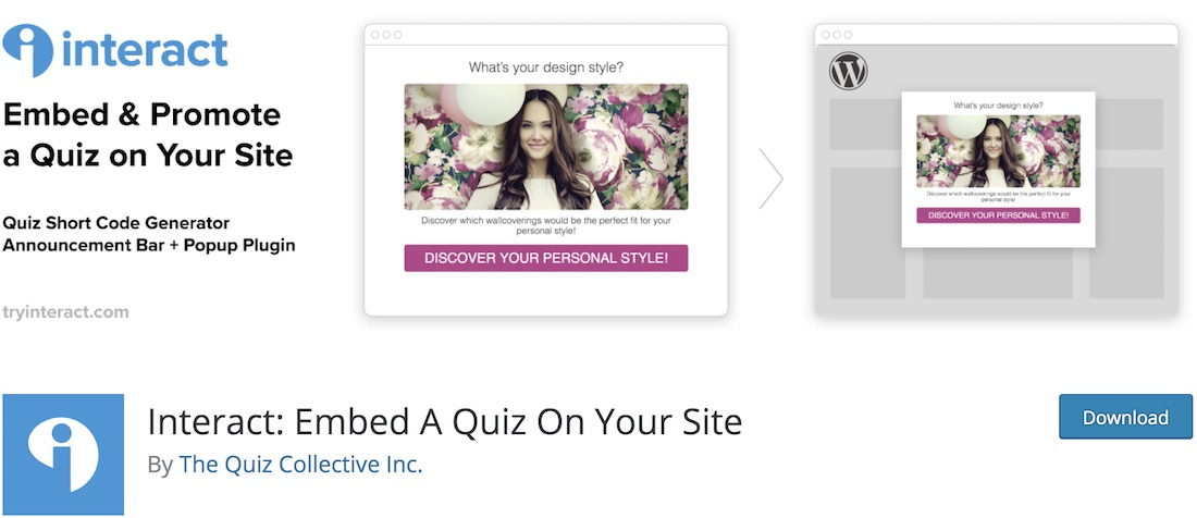 interact wordpress quiz plugin