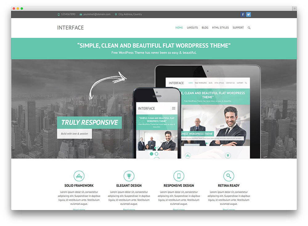 interface corporate theme