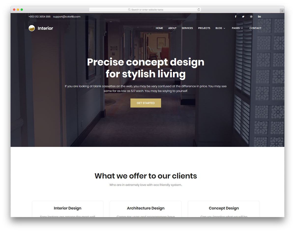 Interior Free Interior Design Website Template Colorlib
