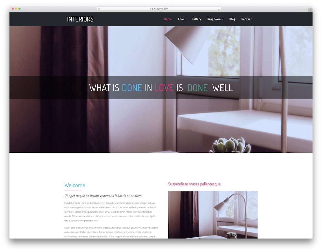 interiors website template