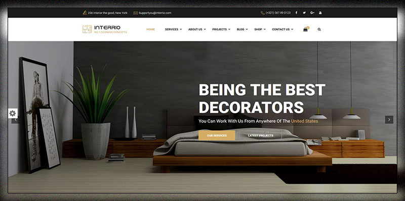 Interrio WordPress Theme For Architecture Construction And Interior Design