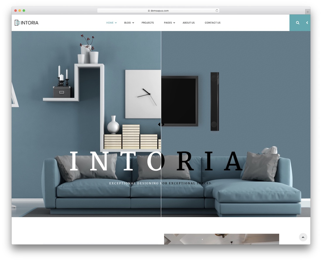 intoria interior design wordpress theme