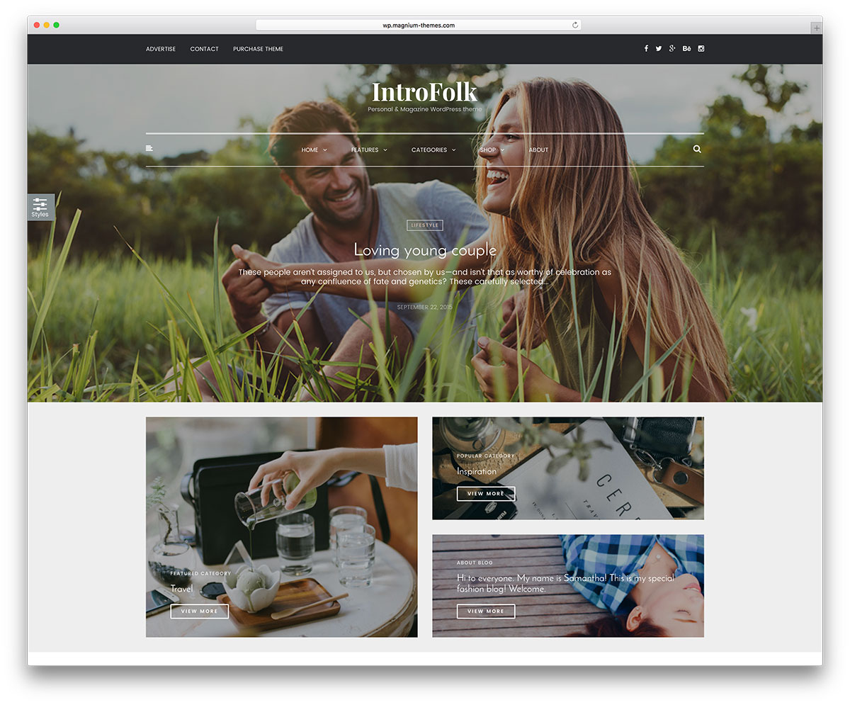 introfolk-minimal-wordpress-blog-theme
