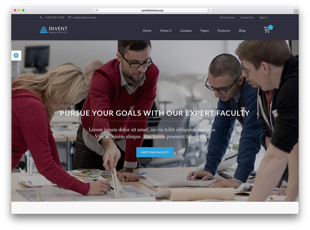 invent - premium looking online course theme