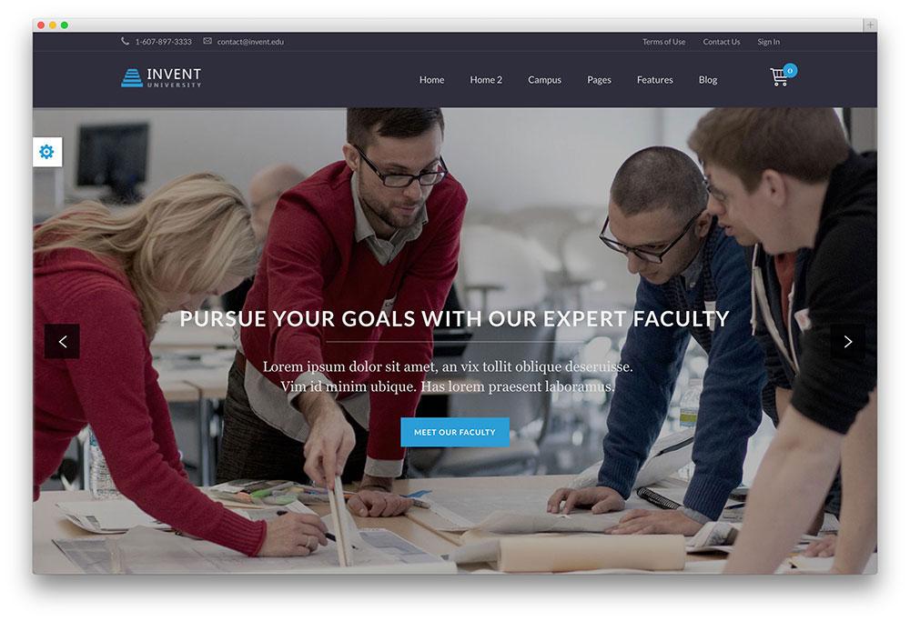 Invent University WordPress theme