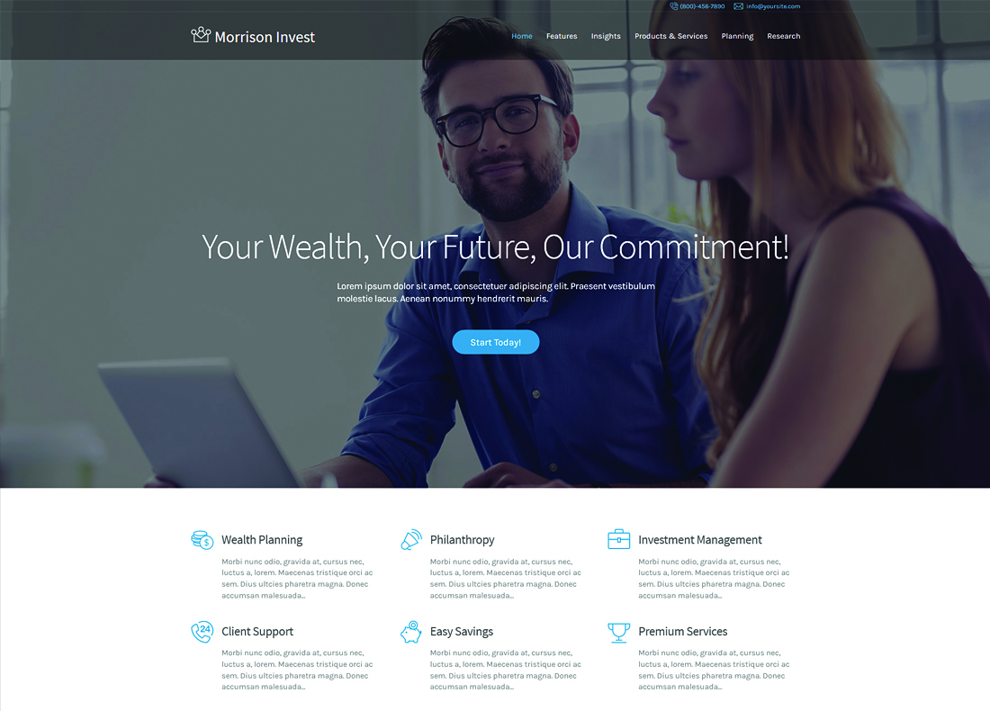 Morrison Invest   Investments, Business & Financial Advisor WordPress Theme