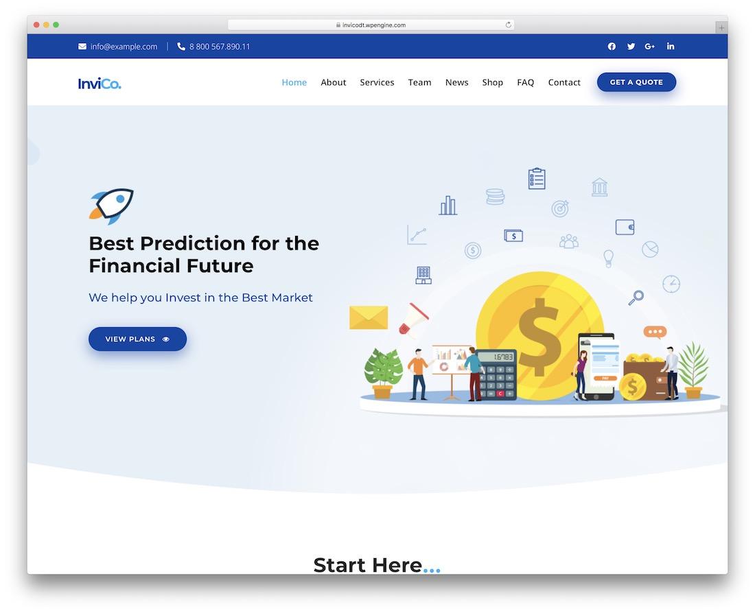 invico insurance website template