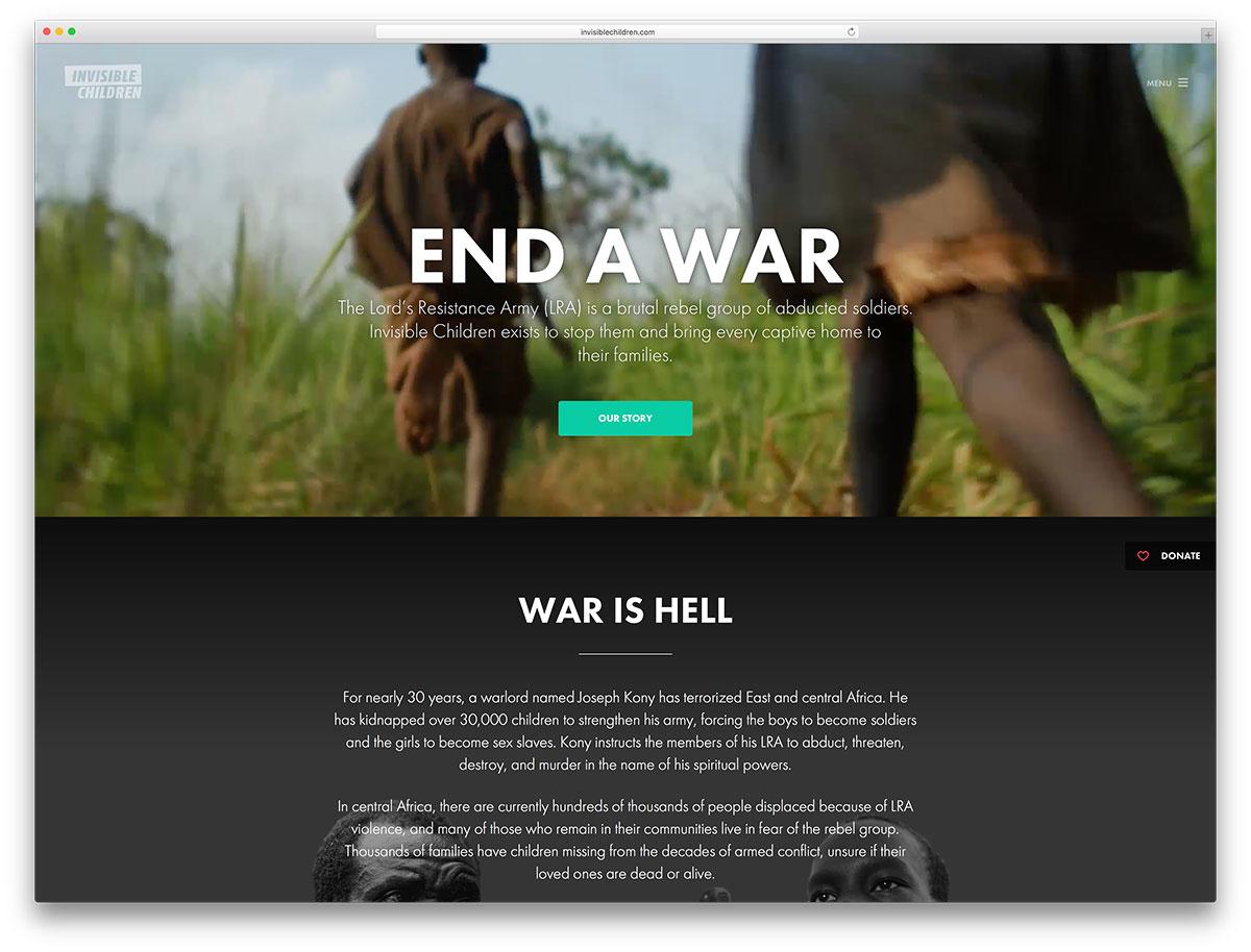 invisiblechildren-charity-website-using-wordpress