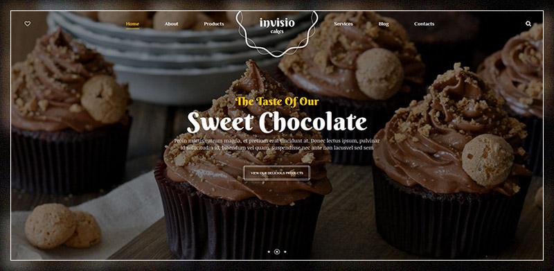 Invisio Cakes - Sweet Bakery WordPress Theme