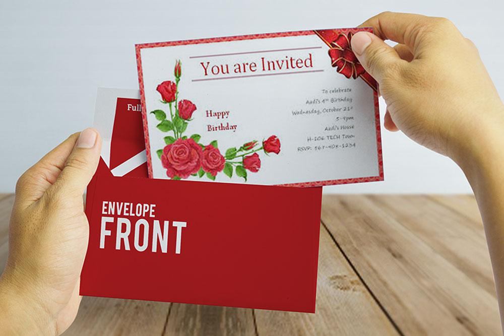invitation card psd mockup free download