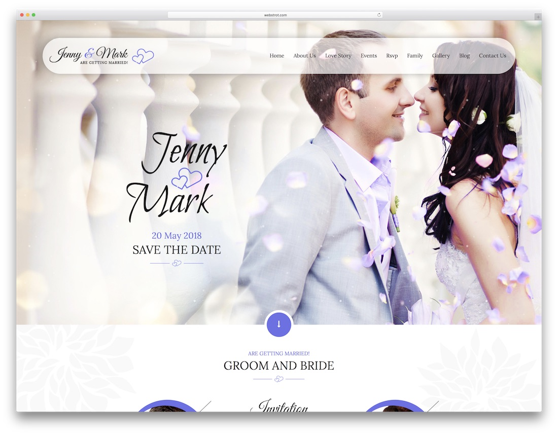 invitation html wedding website template