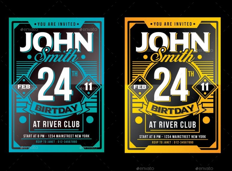 17 Best Editable Invitation Templates For Parties In 2017