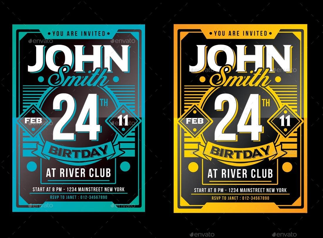 Best Editable Party Invitation Templates In Colorlib - Party invitation template: club party invitation template