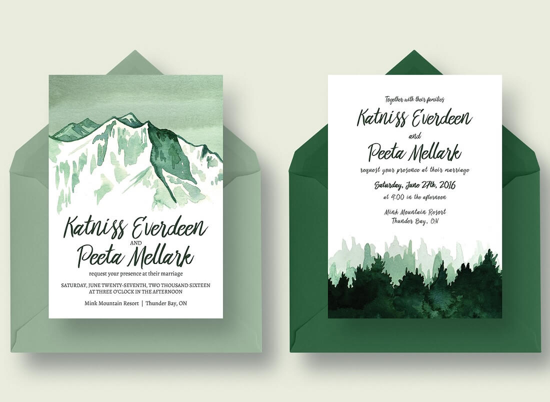 26 Gorgeous Invitation Templates for Weddings 2020 - Colorlib