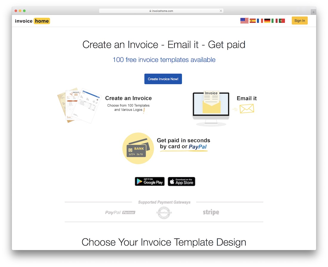 invoice home free invoicing tool