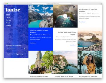 Ionize Free Template