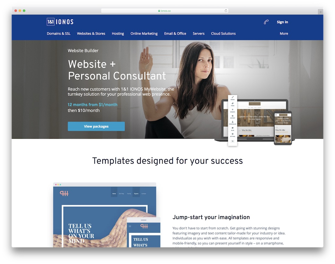 ionos business website builder