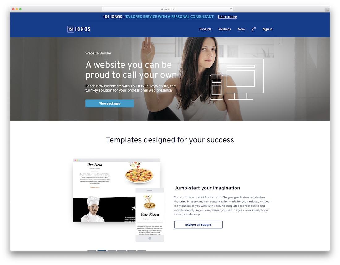 ionos hotel website builder