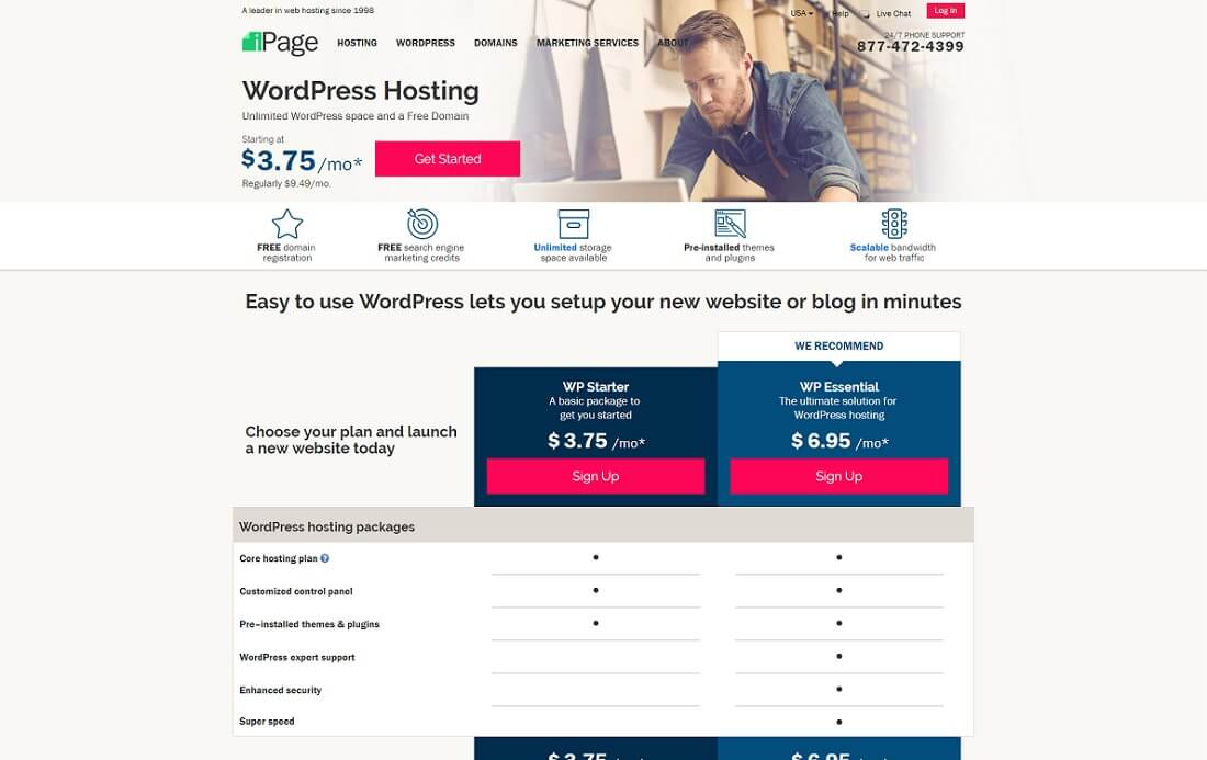 ipage cheap hosting wordpress