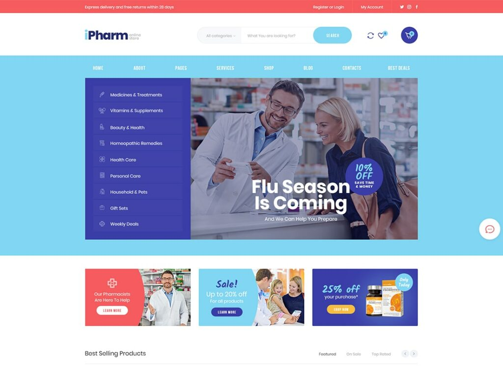 IPharm | Online Pharmacy & Medical WordPress Theme