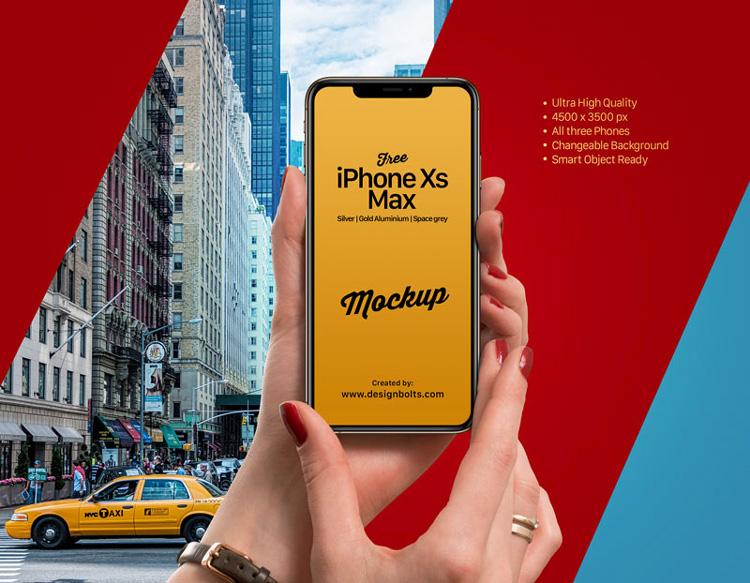 iphone xs max psd mockup