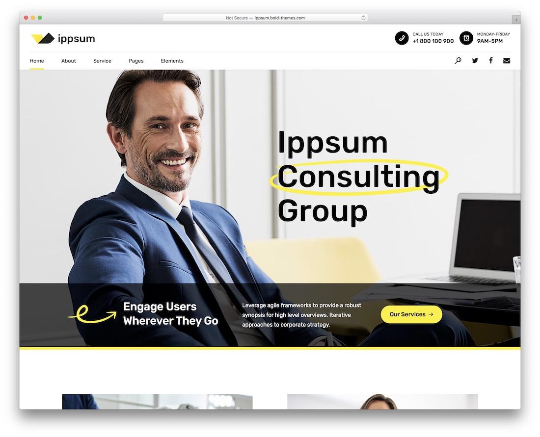 ippsum consulting wordpress theme