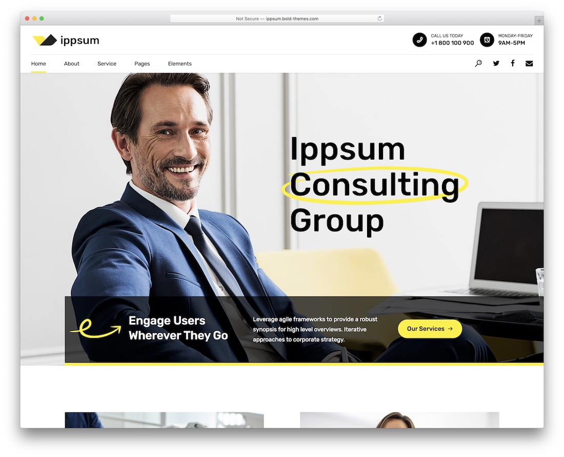 ippsum consulting wordpress theme
