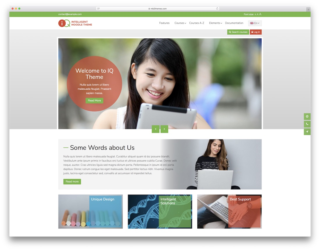 iq moodle bootstrap template