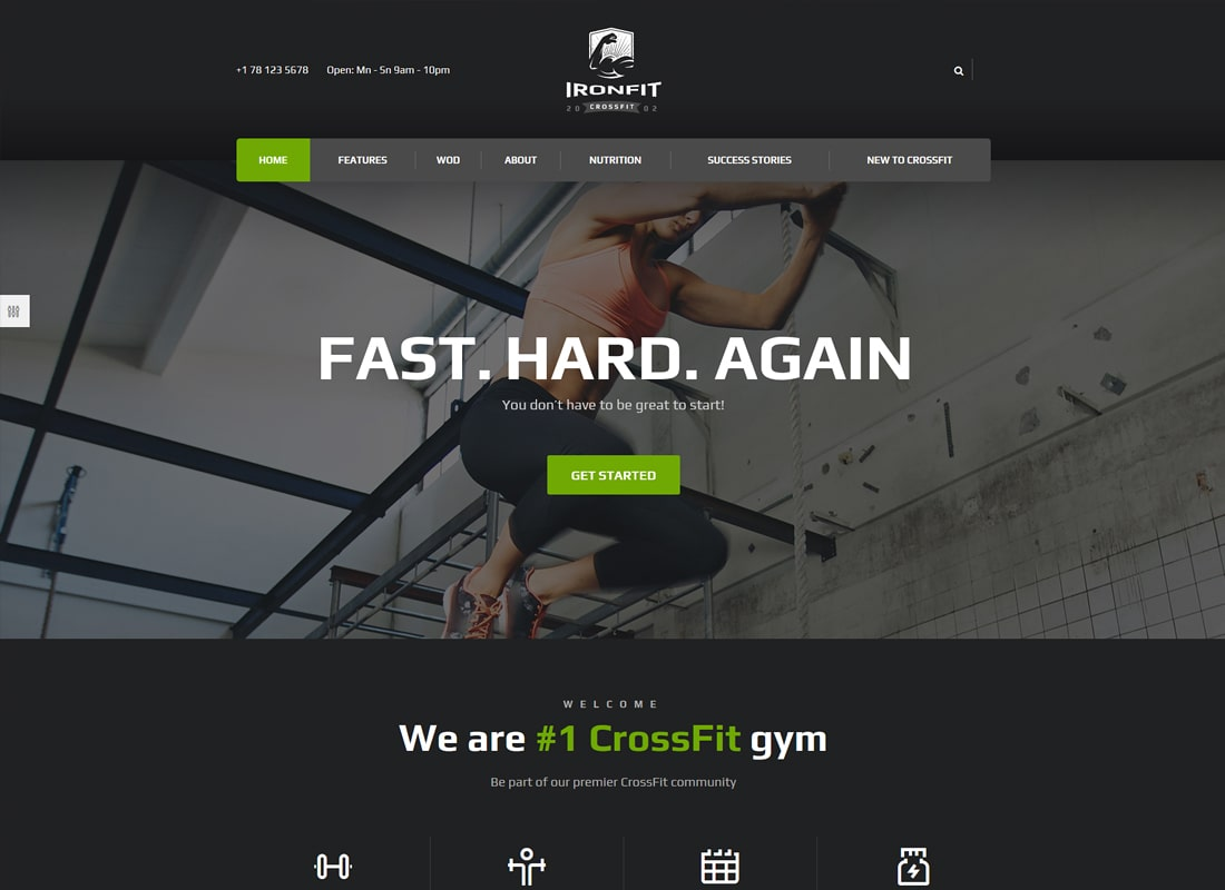 Ironfit - Fitness, Gym and Crossfit WordPress Theme