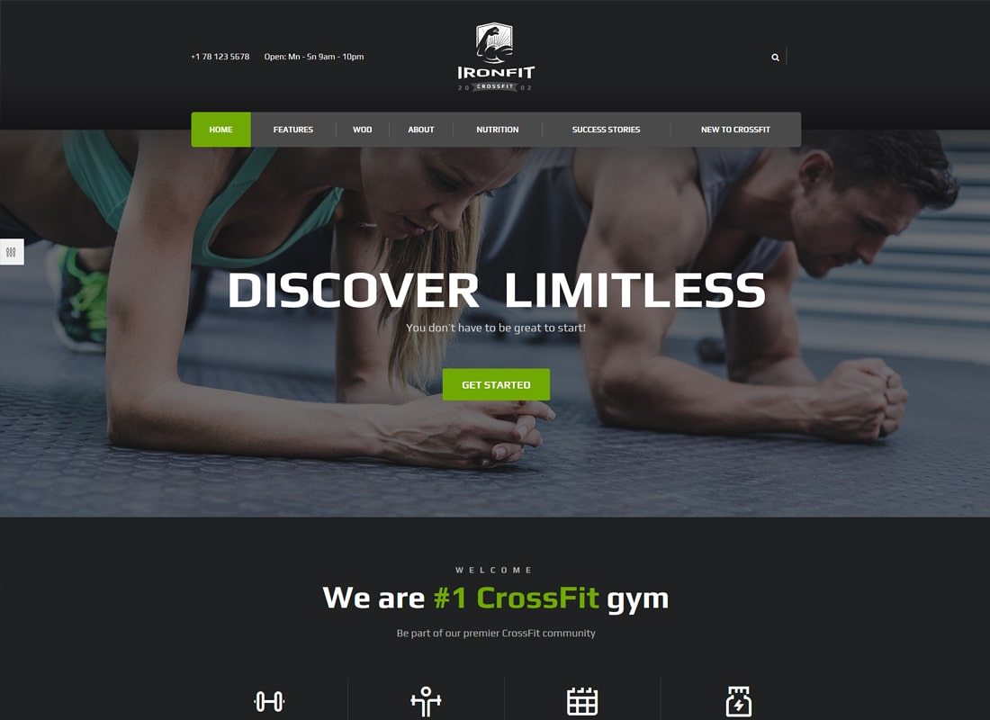 Ironfit | Fitness, Gym and Crossfit WordPress Theme