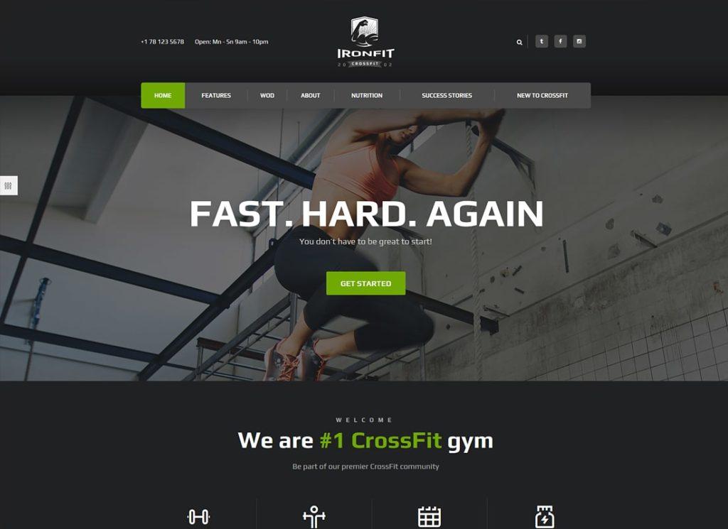 Ironfit | Fitness, Gym and Crossfit WordPress Theme