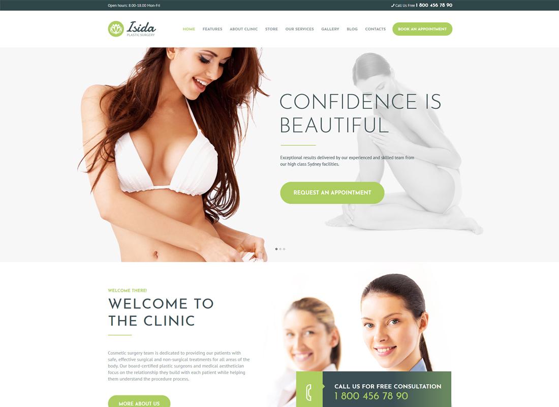 Isida | Plastic Surgery Clinic & Medical WordPress Theme