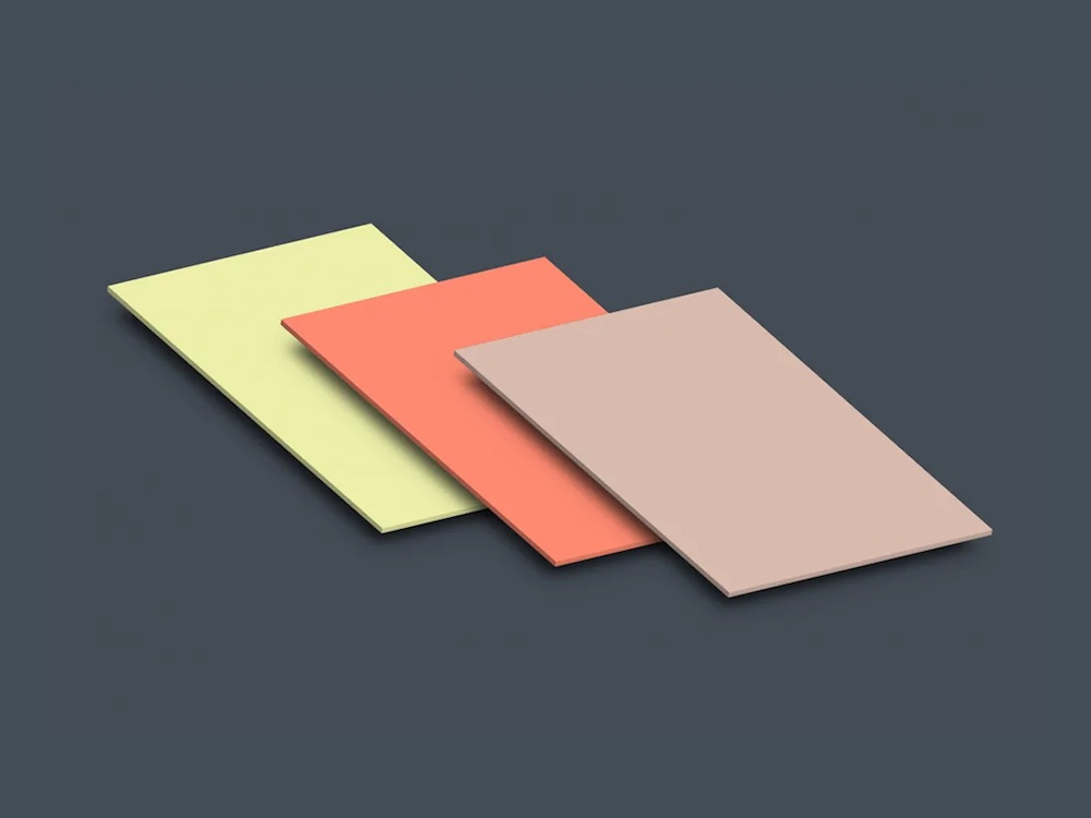 isometric perspective letter paper mockup