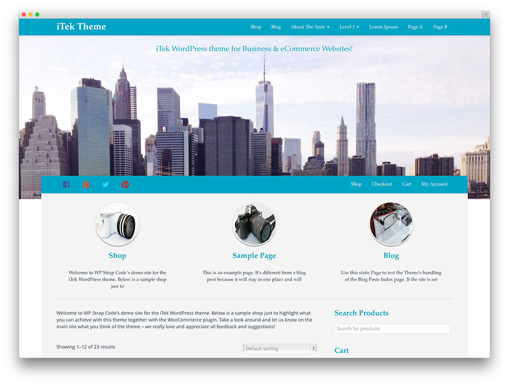 itek WordPress theme
