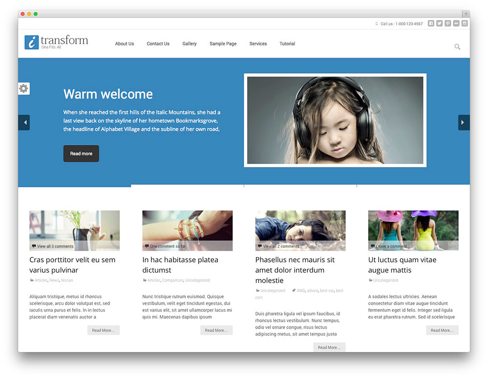 itransform - free multipurpose theme