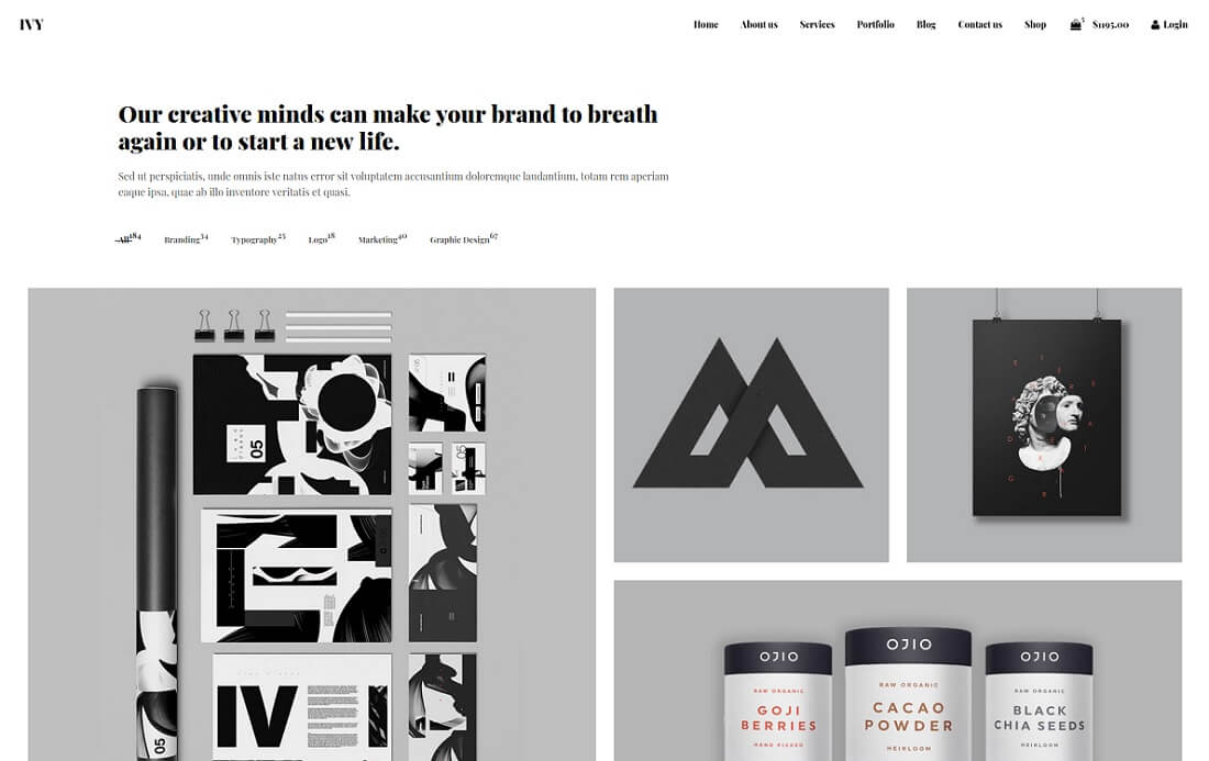 graphic design website templates
