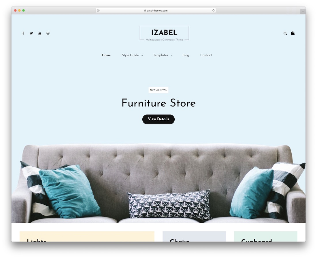 izabel free woocommerce wordpress theme