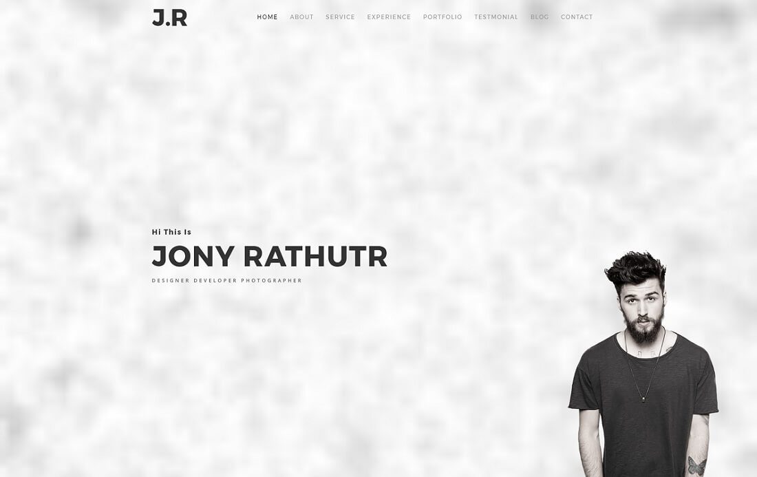 J.R HTML resume cv website template