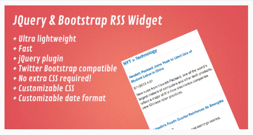 jQuery Bootstrap RSS Widget