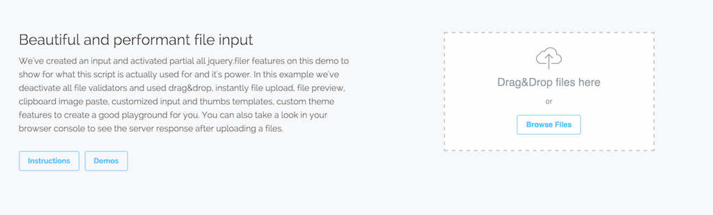 jQuery.filer Simple HTML5 file uploader plugin tool for jQuery.