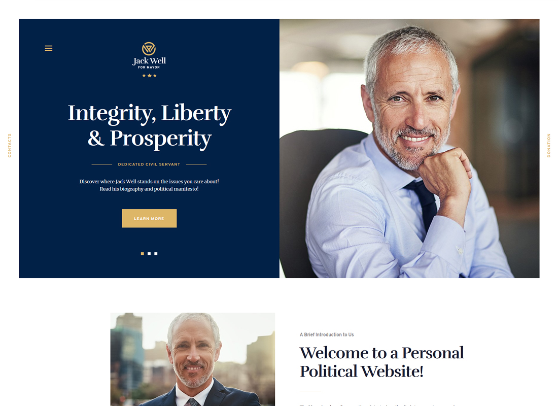 Jack Well - Elections Campaign & Political WordPress Theme
