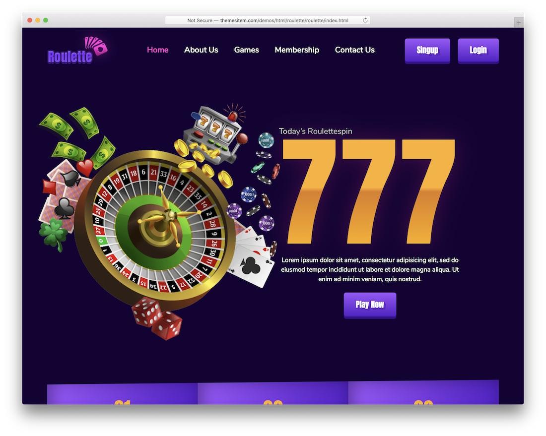 jackpot cheap website template