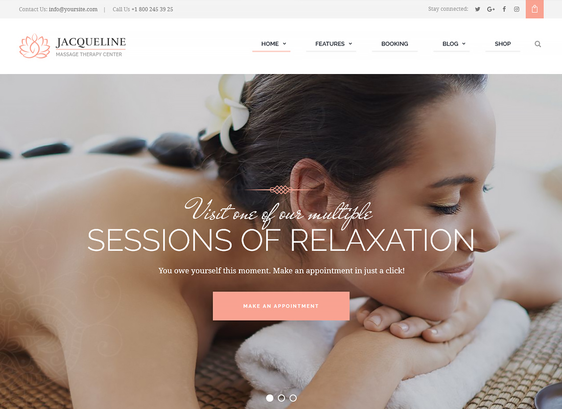 Jacqueline - Spa & Massage Salon WordPress Theme