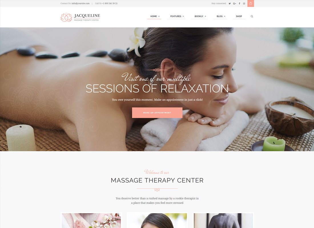 Jacqueline - Spa & Massage Salon WordPress Theme