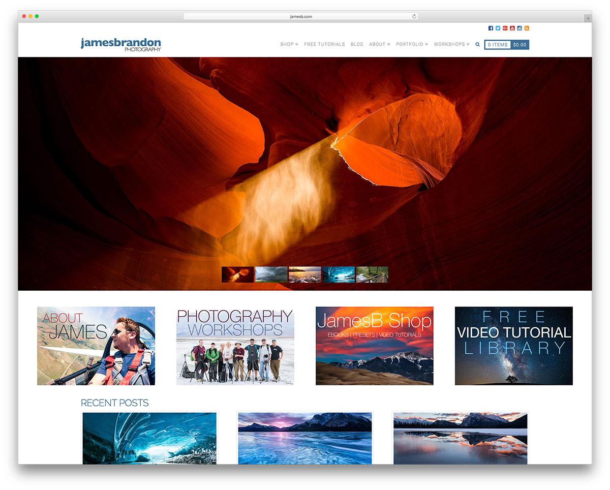 jamesb-photography-portfolio-using-wordpress