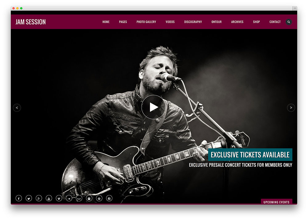 25 of the best wordpress themes for musicians 2018 colorlib jamsession clean music band theme maxwellsz